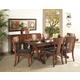 Somerton Studio Trestle Dining Table Set in Rich Walnut