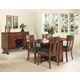 Somerton Studio Gate Leg Dining Table Set in Rich Walnut