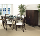Somerton Soho Rectangular Leg Table in Dark Brown 432-64