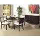 Somerton Soho Round Dining Table w/ Lazy Susan Set in Dark Brown