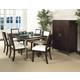 Somerton Soho Rectangular Leg Dining Table Set in Dark Brown