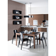 Domitalia 5pc Asso-120 Rectangular Extendable Table Dining Room Set
