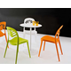 Domitalia 5pc Crown-T Round Bistro Table Dining Room Set w/ ForYou2 Stacking Chairs