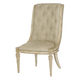 American Drew Jessica McClintock Boutique Upholstered Side Chair in White Veil (Set of 2) 217-636W