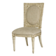 American Drew Jessica McClintock Boutique Side Chair in White Veil (Set of 2) 217-638W