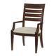 American Drew Miramar Slat Back Arm Chair in Auburn (Set of 2) 218-637