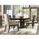American Drew Miramar 7pc Pedestal Dining Table Set in Auburn
