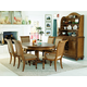 American Drew Grand Isle 5pc Round Dining Set in Amber