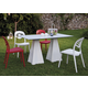 Domitalia 5pc Compass-Q Square Dining Room Set w/ ForYou2 Stacking Chairs