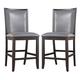Trishelle Upholstered Barstool in Gray (Set of 2)