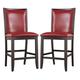 Trishelle Upholstered Barstool in Red (Set of 2)
