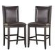 Trishelle Upholstered Barstool in Brown (Set of 2)
