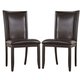 Trishelle Upholstered Side Chair in Brown (Set of 2)