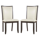 Trishelle Upholstered Side Chair in Cream (Set of 2)