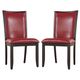 Trishelle Upholstered Side Chair in Red (Set of 2)