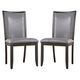 Trishelle Upholstered Side Chair in Gray (Set of 2)