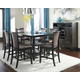 Trishelle 7pc Rectangular Counter Height Dining Table Set