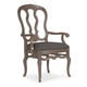Bernhardt Belgian Oak Wooden Arm Chair with Padded Seat in French Truffle (Set of 2) 337-556