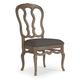 Bernhardt Belgian Oak Wooden Side Chair with Padded Seat in French Truffle (Set of 2) 337-555