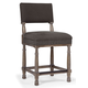 Bernhardt Belgian Oak Upholstered Counter Stool in French Truffle 337-587