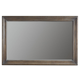 Bernhardt Belgian Oak Wood-Framed Wall Mirror in French Truffle 337-331