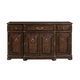 Bernhardt Normandie Manor Buffet with Acid Washed Stone Set in Caffe Brown 317-132