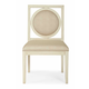 Bernhardt Salon Dining Side Chair with Circular Wood-Framed Back in Alabaster (Set of 2) 341-561