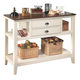 Whitesburg Dining Room Server in Brown - White