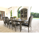 Bernhardt Belgian Oak 9pc Rectangular Extendable Dining Room Set with Wooden Side Chairs & Button Tufted Arm Chairs in French Truffle