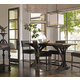 Bernhardt Belgian Oak 5pc Pub Height Dining Room Set with Upholstered Counter Stools in French Truffle