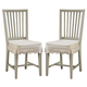 Paula Deen River House Kitchen Side Chair in Oyster Shell (Set of 2) 396632-RTA CLOSEOUT
