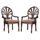 Ledelle Upholstered Round Back Arm Chair (Set of 2) CLEARANCE