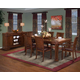 New Classic Sheridan 7-Piece Rectangular Dining Table Set in Burnished Cherry