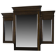American Woodcrafters Grandeur Tri View Mirror in Rich Brown Cherry 5200-033