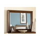 American Woodcrafters Nantucket Landscape Mirror in Honey Brown 1900-040