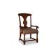 A.R.T. Whiskey Oak Splat-Back Arm Chair in Barrel Oak (Set of 2) 205205-2304
