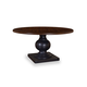A.R.T. Whiskey Oak Round Dining Table in Barrel Oak Top