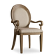 Hooker Furniture Corsica Upholstered Oval Back Arm Chair 5180-75402