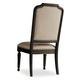 Hooker Furniture Corsica Upholstered Side Chair in Antiqued Espresso (Set of 2) 5280-75411