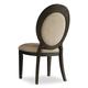 Hooker Furniture Corsica Upholstered Oval Back Side Chair in Antiqued Espresso (Set of 2) 5280-75412