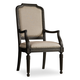 Hooker Furniture Corsica Upholstered Arm Chair in Antiqued Espresso (Set of 2) 5280-75401