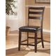 Ridgley Upholstered Barstool in Dark Brown (set of 2)