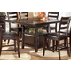 Ridgley Square Counter Height Extension Dining Table in Dark Brown