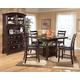 Ridgley 5-Piece  Square Counter Height Extension Dining Table Set in Dark Brown