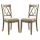 Mestler Upholstered Side Chair in Antique White (Set of 2) D540-102