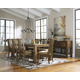 Birnalla 7pc Butterfly Extension Dining Set in Light Brown