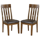 Ralene Upholstered Side Chair in Medium Brown (Set of 2) D594-01