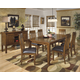 Ralene 7pc Butterfly Extension Dining Set in Medium Brown