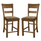 Krinden Upholstered Barstool in Light Brown (Set of 2) D653-124