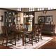 A.R.T. Whiskey Oak 7pc Rectangular Trestle Dining Set in Barrel Oak